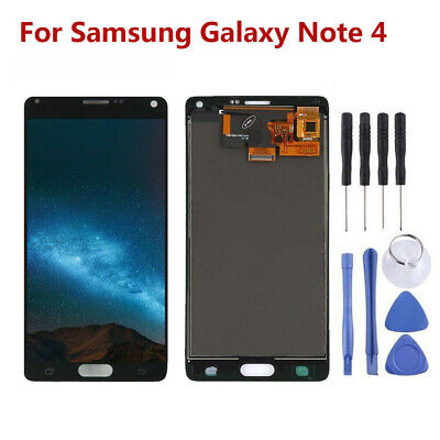 OEM LCD Display Touchscreen Digitizer Ersatz Für Samsung Galaxy Note 4 Schwarz
