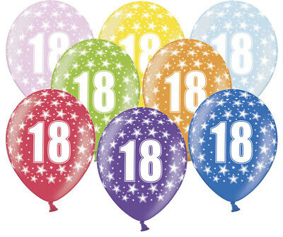 Party Ballons 18.Geburtstag 18th Birthday 30cm bunt Luftballons Geburtstagsparty
