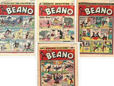 BEANO # 787,789,792,793 1957 4 Comics Bundle issue the lot