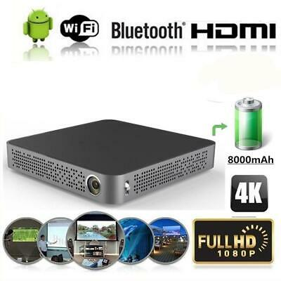 1080p HDMI HD Smart Android Projector Home Cinema LED WiFi Movie Video Bluetooth