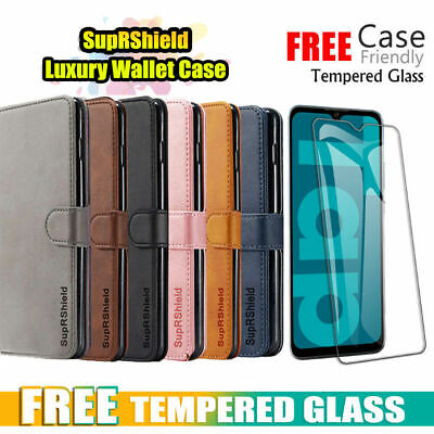 For Huawei Y7 Pro 2019 Case Hanman Luxury Wallet Leather Card Holder Flip Cover