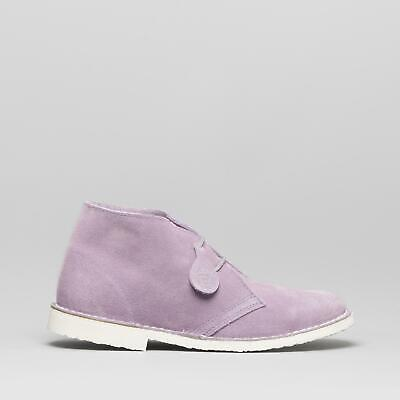 Popps PASTEL Ladies Womens Spanish Made Suede Casual Desert Boots Soft Orchid