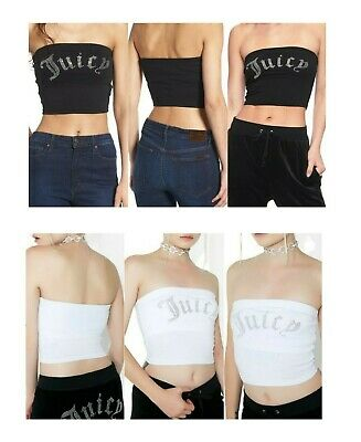 3bfcaae56 JUICY COUTURE GOTHIC Jersey Black Label Tube Tops *New* - $29.00 ...