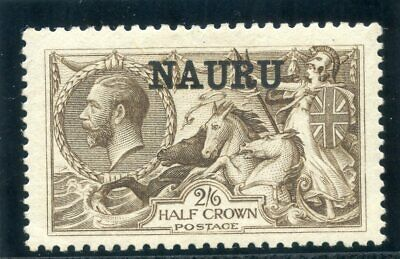 Nauru 1916 KGV 2s 6d chocolate-brown (Bradbury) MLH. SG 24.