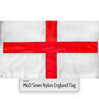 MoD England Flag 5x3 Large Sewn Nylon Heavy Duty Outdoor St Georges Cross