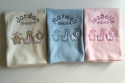 Personalised Aninmal Baby Blanket