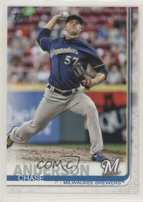 2019 Topps #5 Chase Anderson Milwaukee Brewers Baseball Card