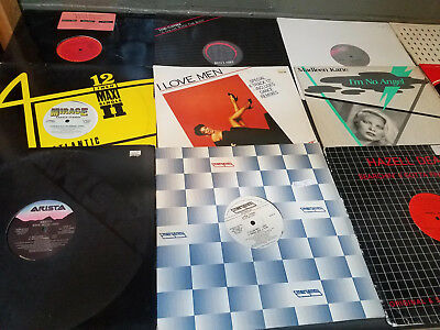 "Disco (Ni NRG) - Lot of 15 12"" Singles DJ Vinyl Records EDM Dance 1980's"