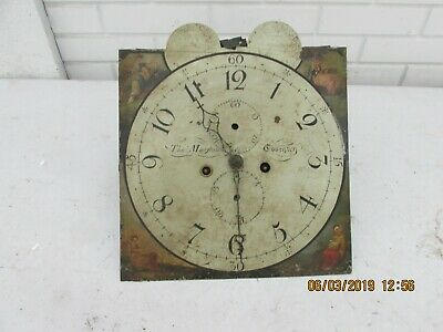 Antique Grandfather / Longcase Clock movement and dial .
