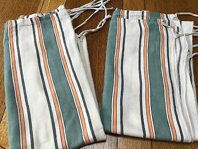 Vintage Rare 1940's 50's Canvas Door Paint Protection Blinds
