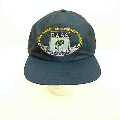 Vintage Bass Anglers Sportsman Society Hat 25th Anniversary Nylon Cap