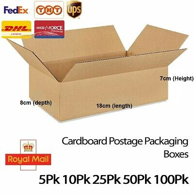 Cardboard Postage Postal Packaging Box Royal Mail Post Small Parcel 18 x 12 CM