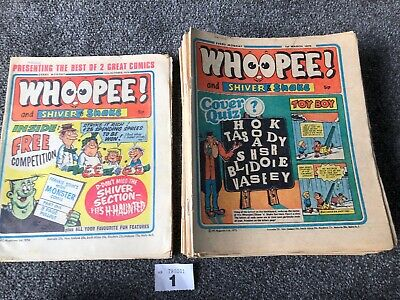 Collection Of 90s Early Whoopee Comics  1974 1975 - 27 Issues