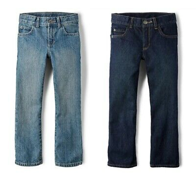 Boy's Basic Bootcut Jeans Denim Pant Flare Trousers School 4-18 Years