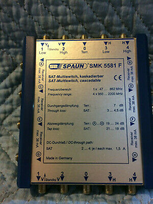 Spaun SMK 5581 F SAT-Multiswitch, Cascadable