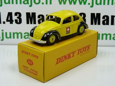DT47E Voiture réédition DINKY TOYS atlas : 262 VW Cox Post Suisse UK