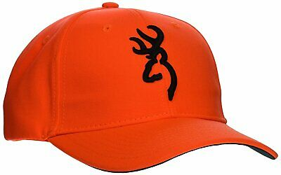 new style f2971 383a8 Browning Hunting Cap Hat, Safety 3D, Blaze Orange With Logo - 30840501