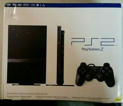 Sony PlayStation 2 Slim Launch Edition Charcoal Black Console (SCPH-75001CB) NIB