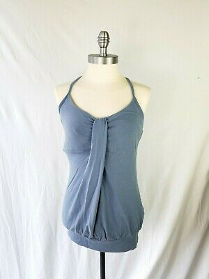 bea54c9d98c0b Patagonia Womens Size Small Blue Tank Top Racerback Shelf Bra Organic Cotton