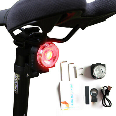 4 Modes USB LED AO Taillight For Bike Saddle Bicycle Seatpost Rear Smart Light