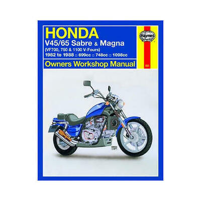 haynes motorcycle repair manual for honda vf 750 sabre/magna v-four 1982-