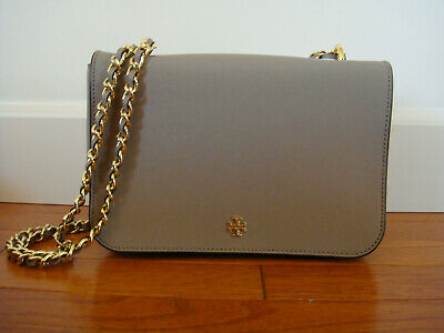 357539b84091 NWT Tory Burch Emerson Adjustable Shoulder Bag - French Gray