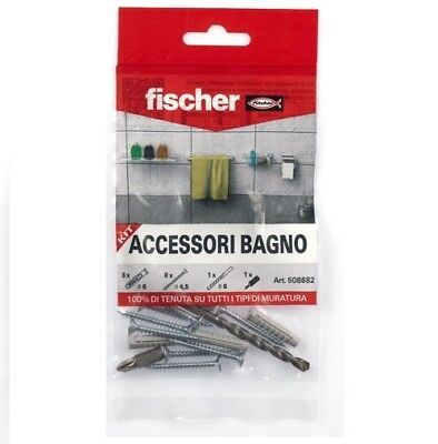TASSELLI FISCHER CON VITE SX 6 PUNTA Fisher kit accessori bagno cucina 6 mm box