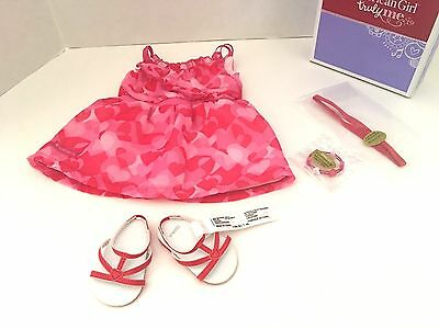 American Girl Red Hearts Ruffle Outfit  Complete  Valentine's Day NEW in Box