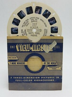 Single Reel Hand Lettered Yellowstone Nat/'l Park WY View-Master Reel 129