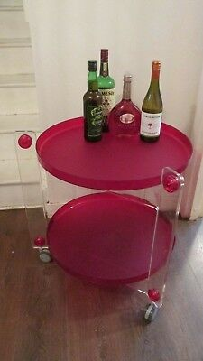 Guzzini 01150100 Massoni Casa Serving Trolley RED & CLEAR