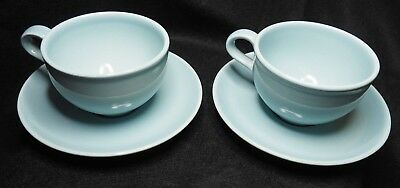 Vintage Iroquois Casual China by Russel Wright pair of Blue Tea Cup & Saucer