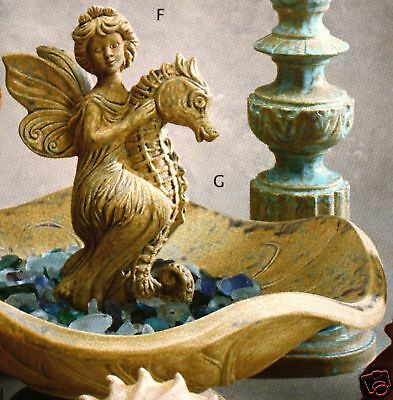 Ceramic Bisque Fairy Riding Sea Horse Gare Mold 3756 U-Paint Ready To Paint