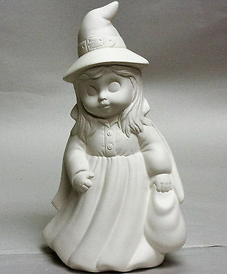 Ceramic Bisque Witch Trick or Treat Girl Donas Mold 0454 U-Paint Ready To Paint