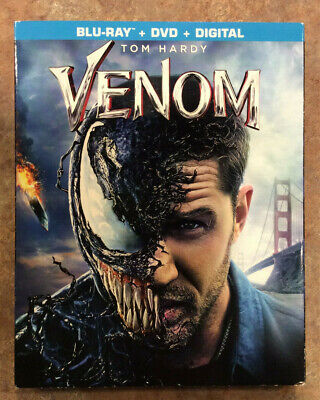 Venom (Blu Ray + DVD + Digital) New W/ Slipcover - Free Shipping -