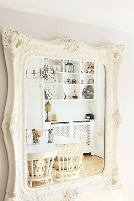 Giant Antique White Classic Mirror Nicky Cornell - EXCELLENT CONDITION
