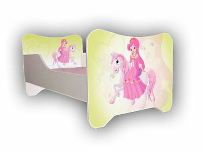 Children Bed PONY, Toddler - Junior Bed For Girls Kids with mattress (140x70cm)