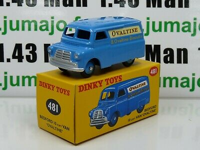 DT27 Voiture réédition DINKY TOYS atlas : 481 Bedford 10 Van Fourgon Ovaltine UK