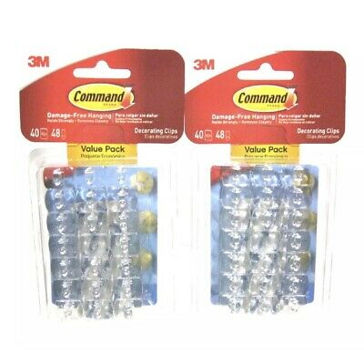 COMMAND DECORATING CLIPS, Clear, 20-Clip, 6-Pack - $25.99 ...