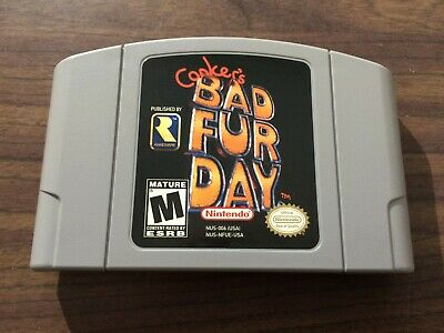 Conker's Bad Fur Day (Nintendo 64, N64) -- Authentic Game Cart -- Tested