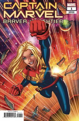 Captain Marvel Braver And Mightier #1 Variant Cover Near Mint