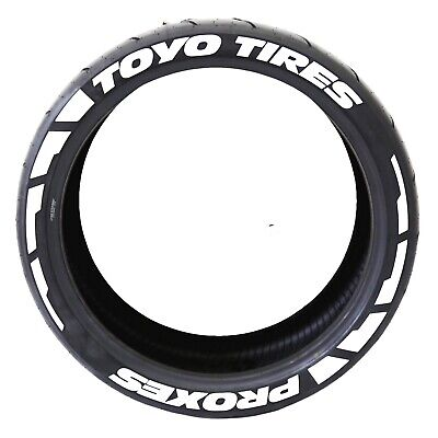 """PERMANENT TIRE LETTERS - """"TOYO TIRES PROXES"""" FROST - 1.25"""" for 17""""-19"""" Wheels"""
