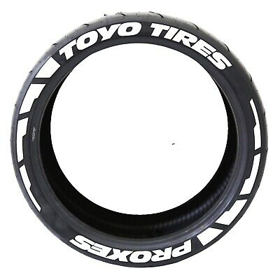 """PERMANENT TIRE LETTERS - """"TOYO TIRES PROXES"""" FROST - 1.00"""" for 17""""-19"""" Wheels"""