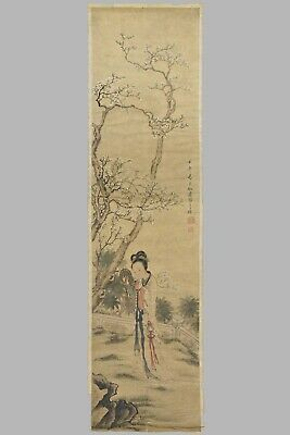 FINE CHINESE UNFRAMED PAINTING ON PAPER SIGNED Hu Xi Gui (1839-1883)