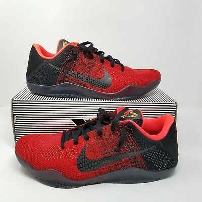 outlet store aa63d 986d4 NIKE KOBE XI 11 ELITE LOW ACHILLES HEEL RED GOLD BLACK 822675-670 Size 13