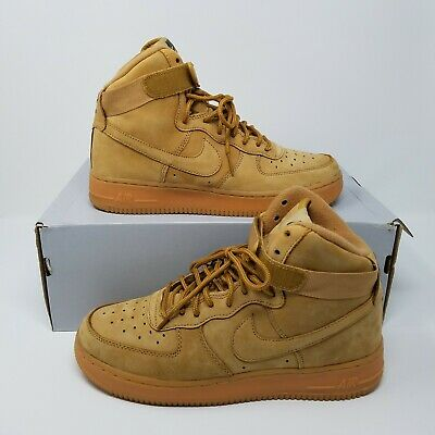 VNDS NIKE AIR Force 1 One High LV8 GS Flax Wheat 807617 200