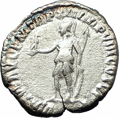 COMMODUS son of Marcus Aurelius 177AD Silver Ancient  Roman Coin Virtus i76523