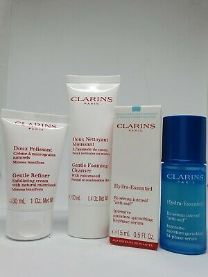 Clarins Foaming Cleanser, Exfloliating Cream,Hydra-Essential Intensive Moisture