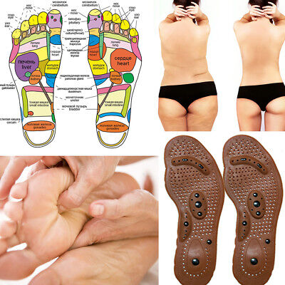 Acupressure Sole Shoes Insole Pressure Magnets Reflex Feet Foot Therapy Care