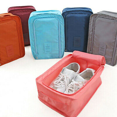Solid Convenient Travel Storage Bag Nylon Portable Organizer Bags Shoe Sorting