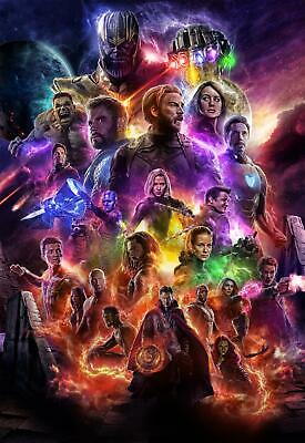 Z-1757 Avengers 4 End Game 2019 Marvel Superhero Movie Film Poster Art Decor